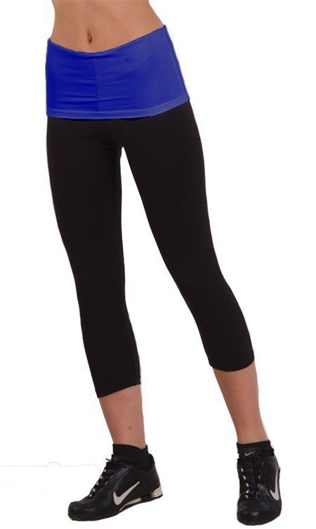 Margarita Activewear Roll Down Fitted Capri 301T