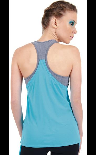 Final Sale! Bia Brazil Activewear Double Trouble Mesh Tank TT4308