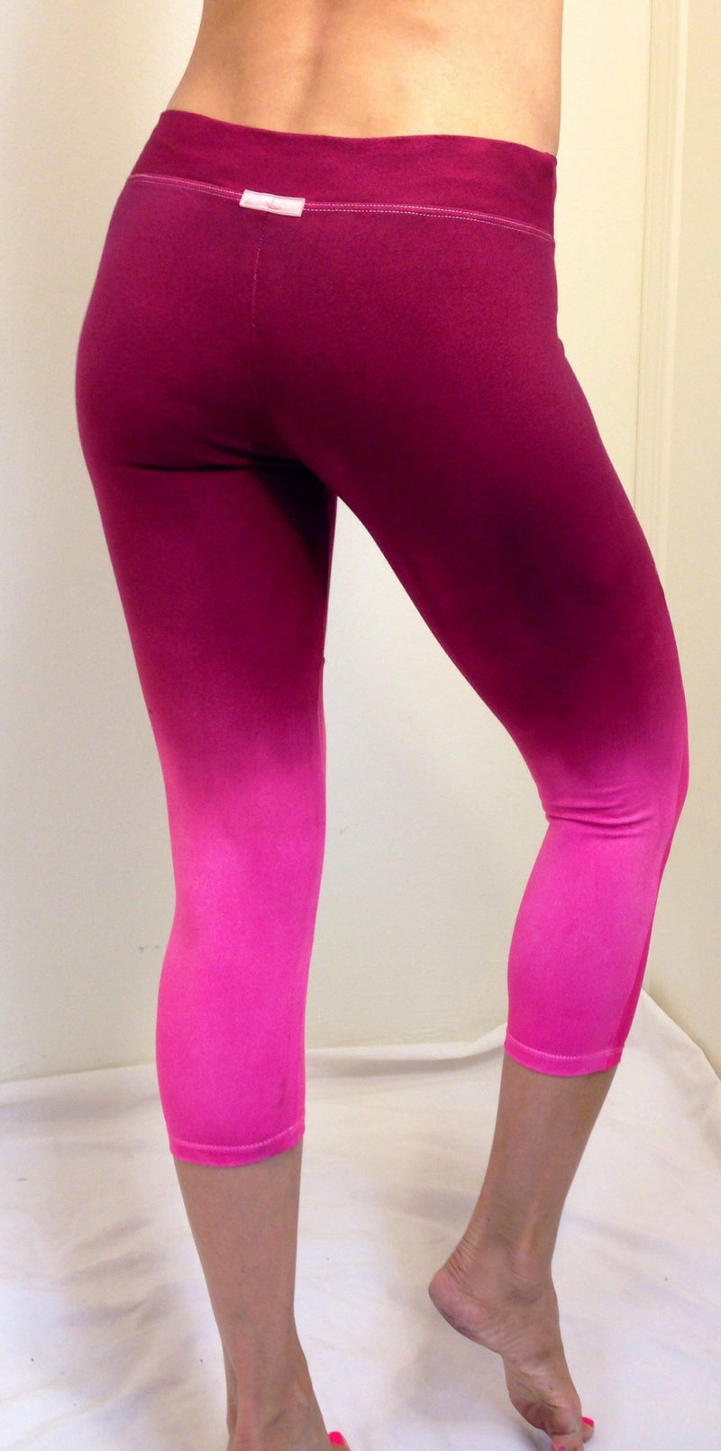 Final Sale! Planet Body Activewear See Through Capri Pink
