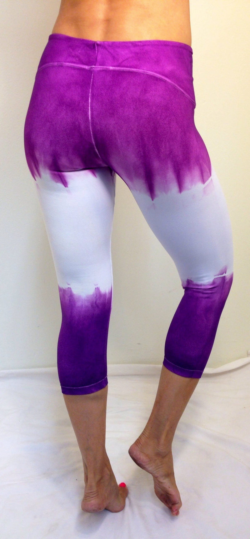 Final Sale! Planet Body Activewear Destroyed Capri Purple