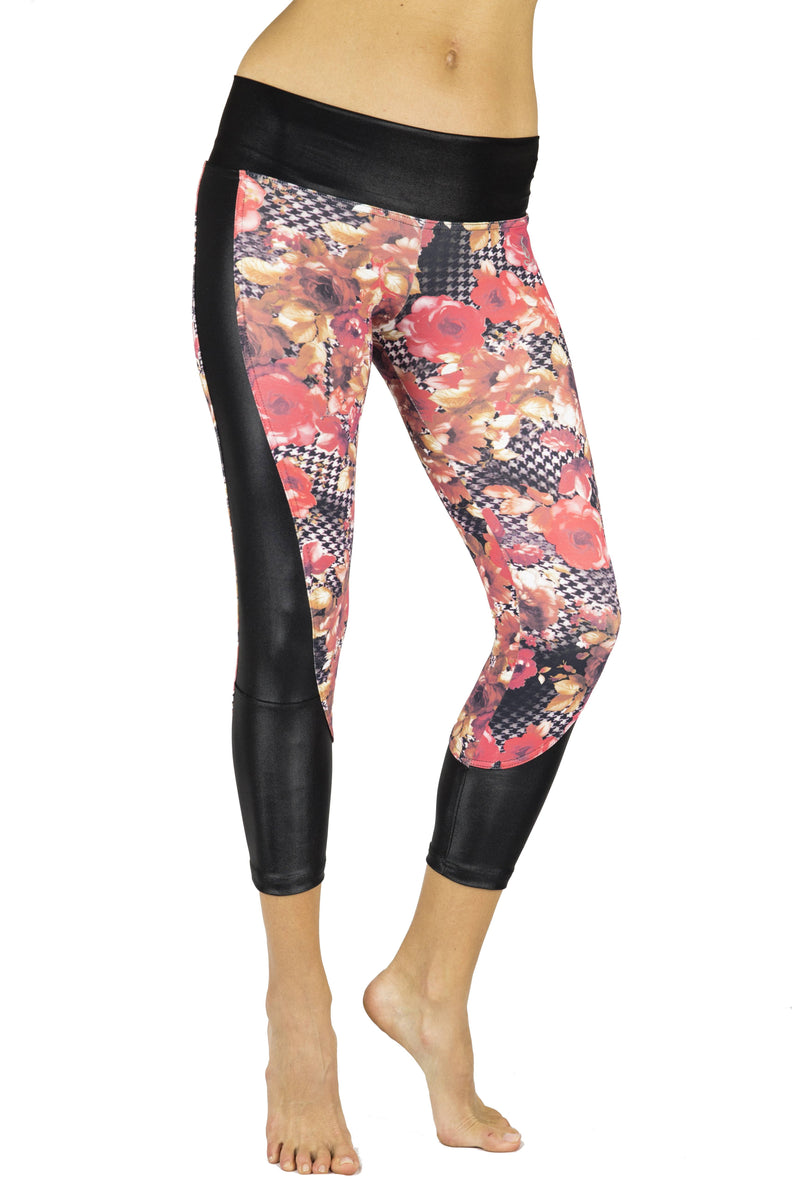 Final Sale! Balance Fitwear Diva Legging Red Flower 3045
