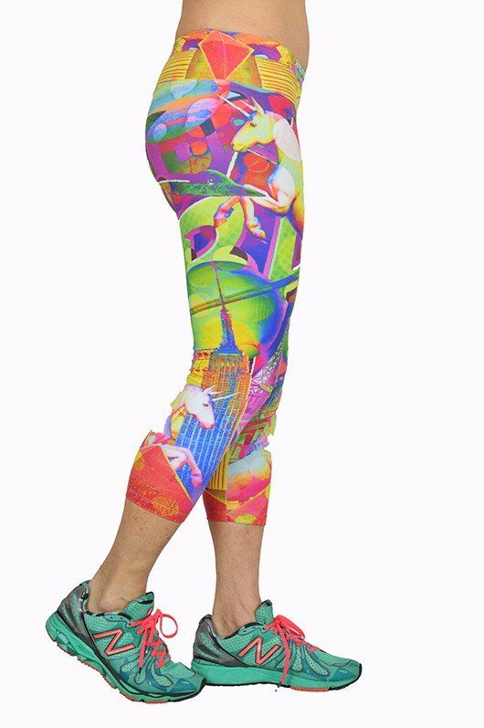 FINAL SALE! Eiffel Tower Printed Capri By Shape Up Activewear