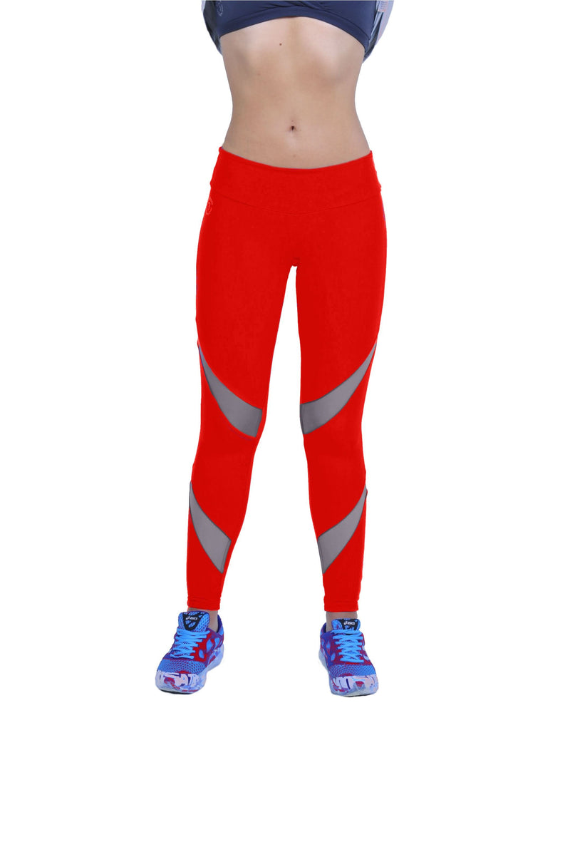 Bia Brazil Activewear Red Mesh Legging LE5006