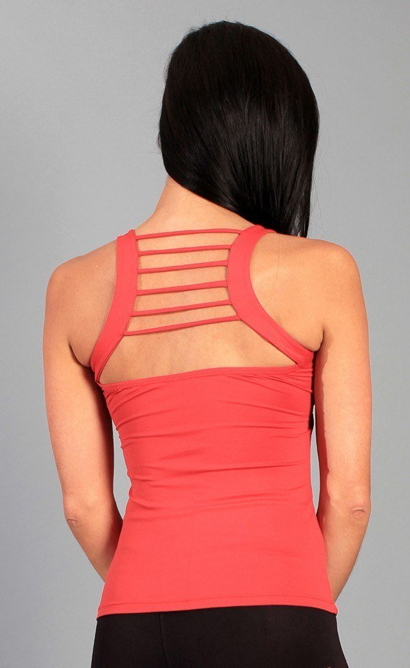 Equilibrium Activewear Criss Cross Crazy Stringy Top LT1045 Red