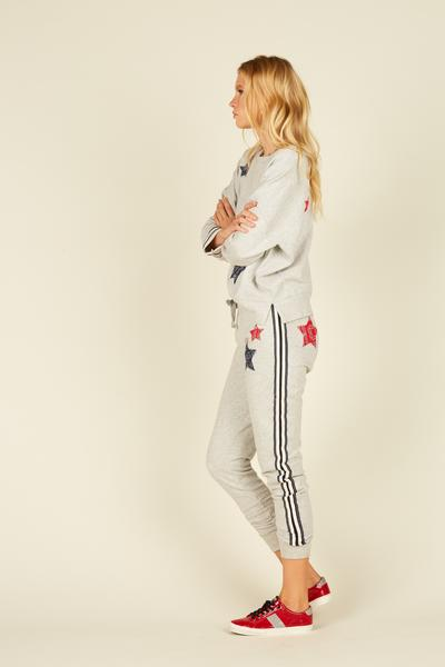 Vintage Havana/Ocean Drive Heather Stripes and Star Jogger B8463