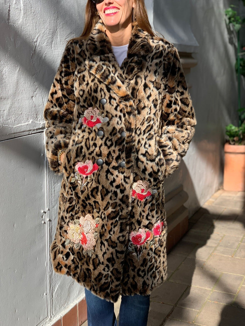 Johnny Was Eeshal Leopard Coat