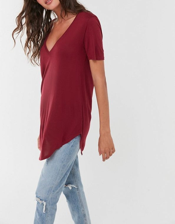 Truly Madly Deeply Deep V Tee Shirt