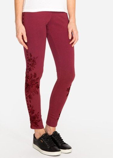Johnny Was Joanna Tonal Embroidered Legging