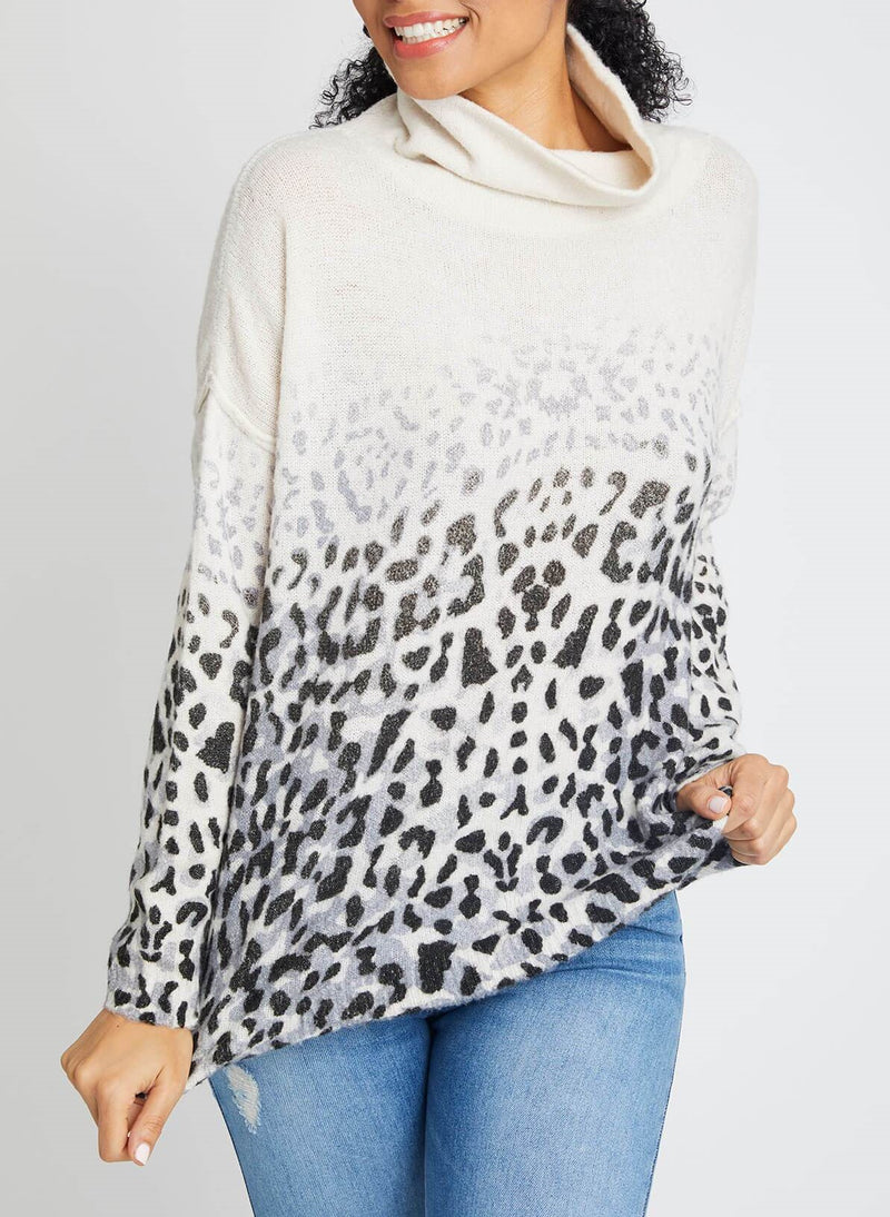 Vintage Havana Faded Leopard Sweater B8710
