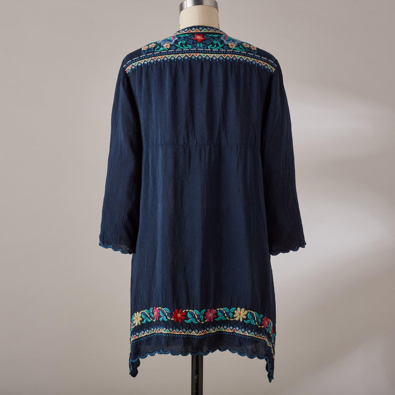 Johnny Was Mikones  3/4 sleeve Tunic