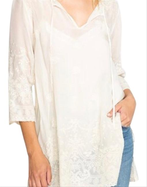 Johnny Was Antik Lace Flare Blouse