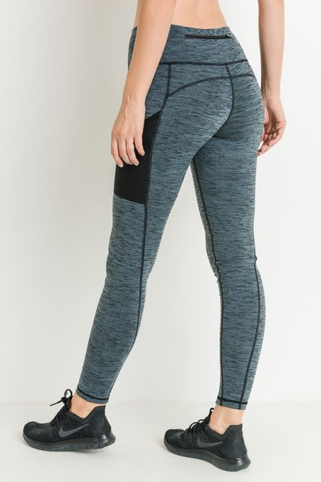 Mono B Top Stitched Mesh Pocket Legging AP2013