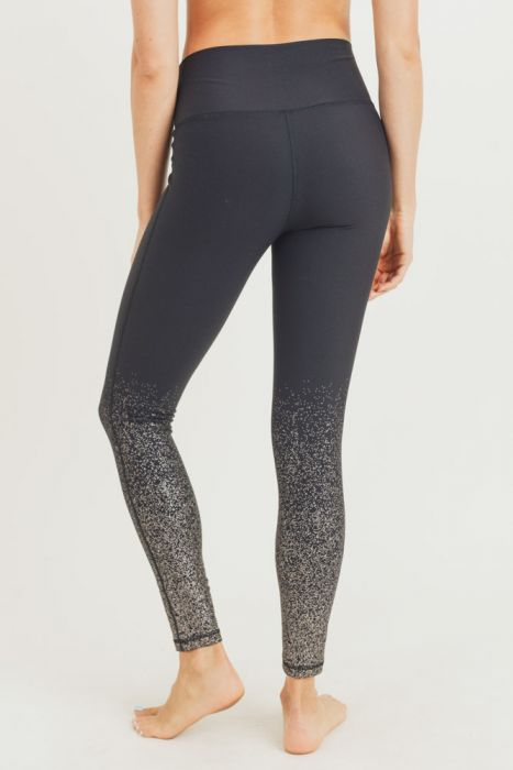 Mono B Metallic Raindrop Highwaist Legging APH2792