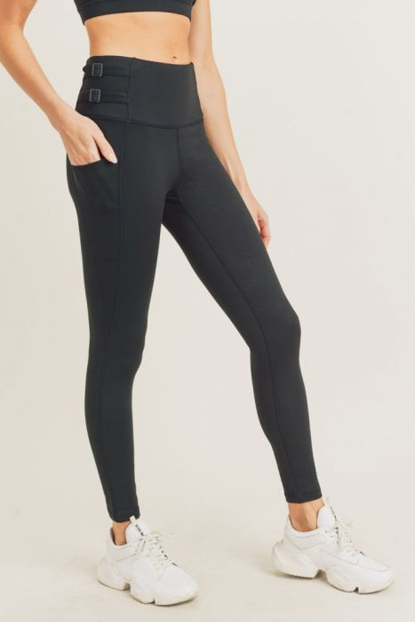 Mono B Harness Strap High Waist Legging APH2860