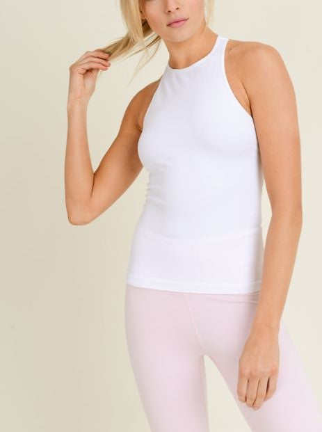 Mono B Seamless Ribbed Racerback Tank Top AT2274