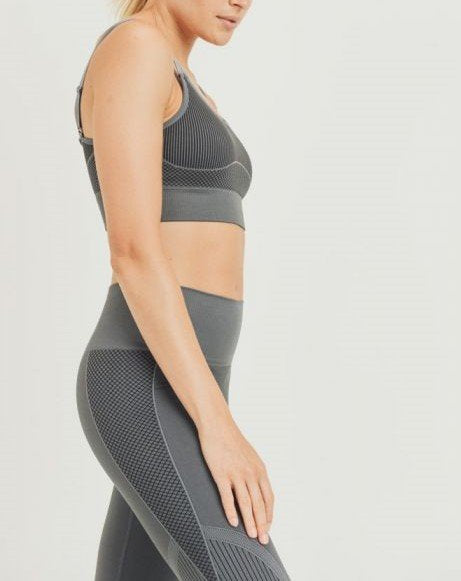 Mono B Seamless Mermaid Bra AT2777 Charcoal