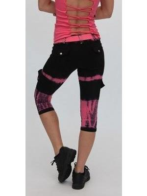 Final Sale Equilibrium Activewear Tie Dyed Capri C344