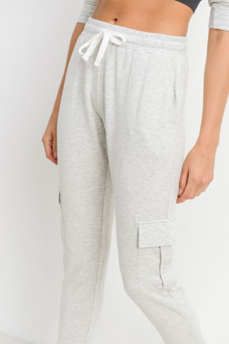 Mono B Cargo Sweatpants KP11236 Grey