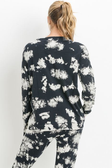 Mono B Crew Neck Acid Wash Sweatshirt KT10959