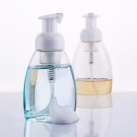 250ml Foaming Soap Pump Shampoo Dispenser Lotion Liquid Foam Bottle Container