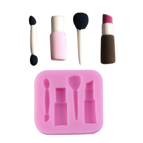 Makeup Tools Design Lipstick Fondant Cake Molds 3D Silicone Chocolate Bakeware