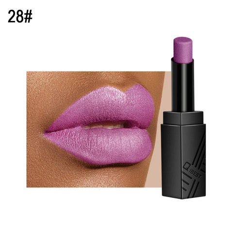 Metallic Moisturizing Lipstick Long Lasting Silky Tint Lip Makeup Non-Smudge