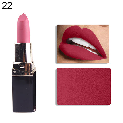 Women Lip Stick Matte Effect Moisturizing Long Lasting Lipstick Makeup Cosmetics