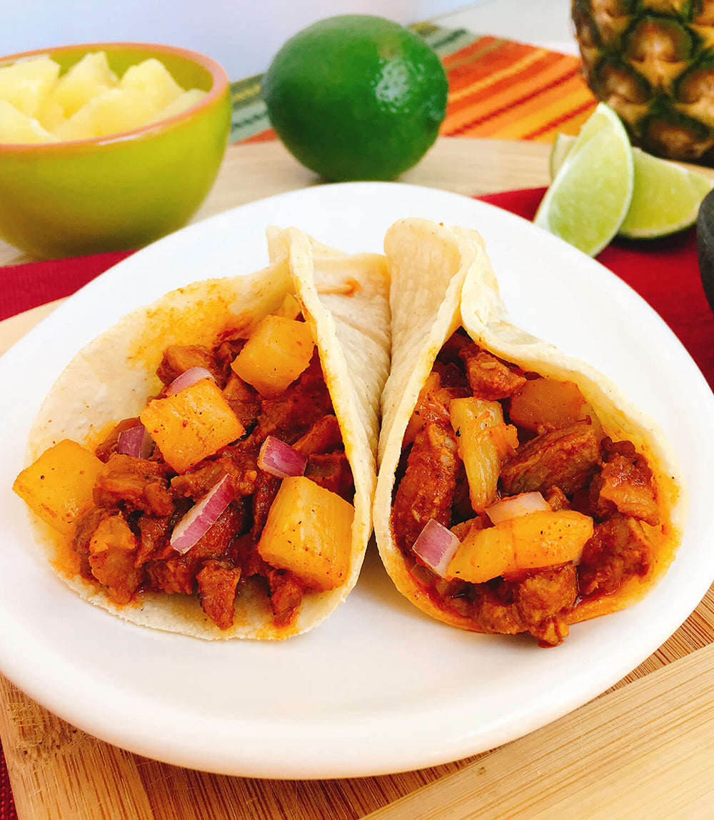Tacos Al Pastor with Pineapple