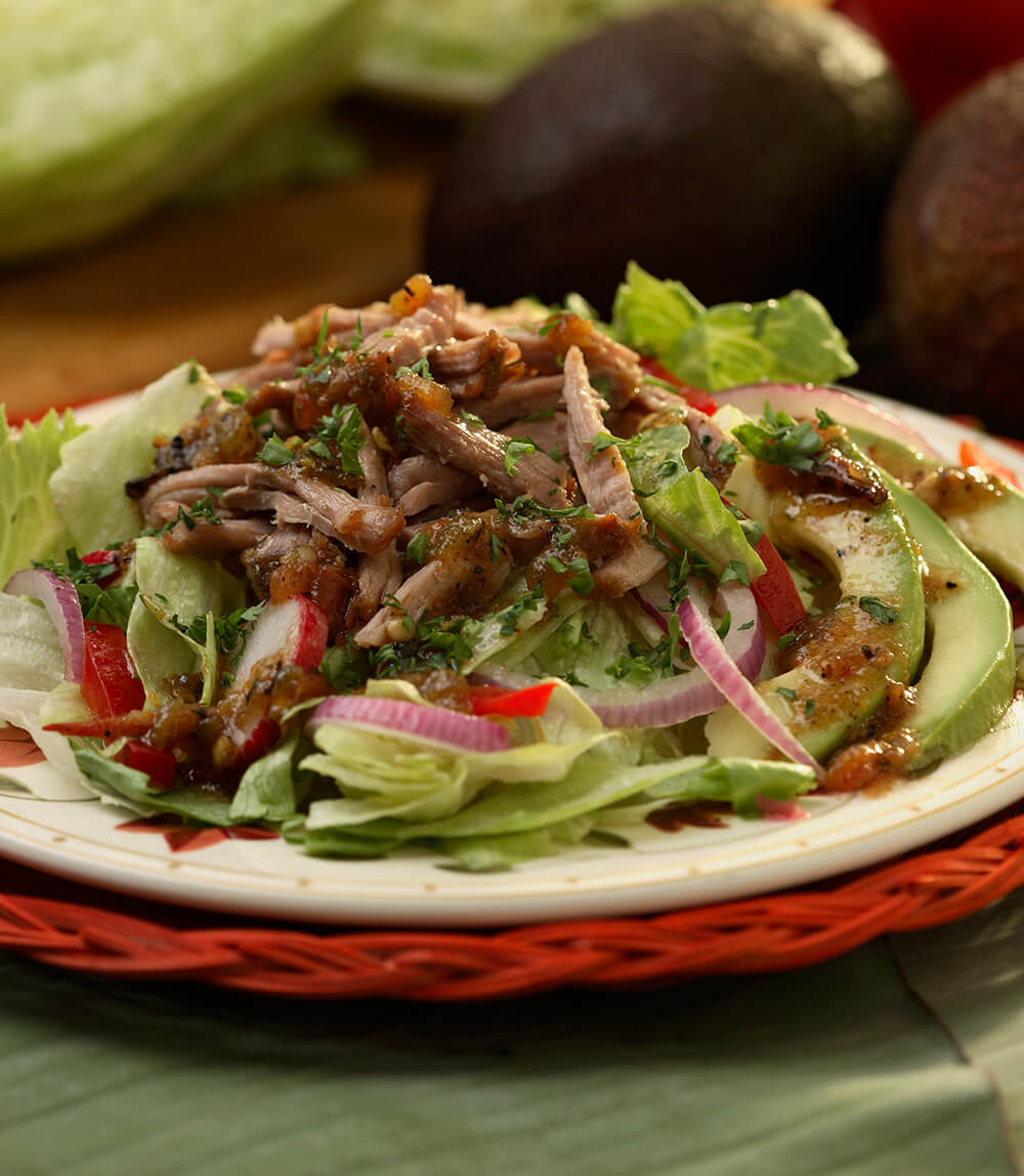 Cancun Carnitas Salad With Citrus Vinaigrette