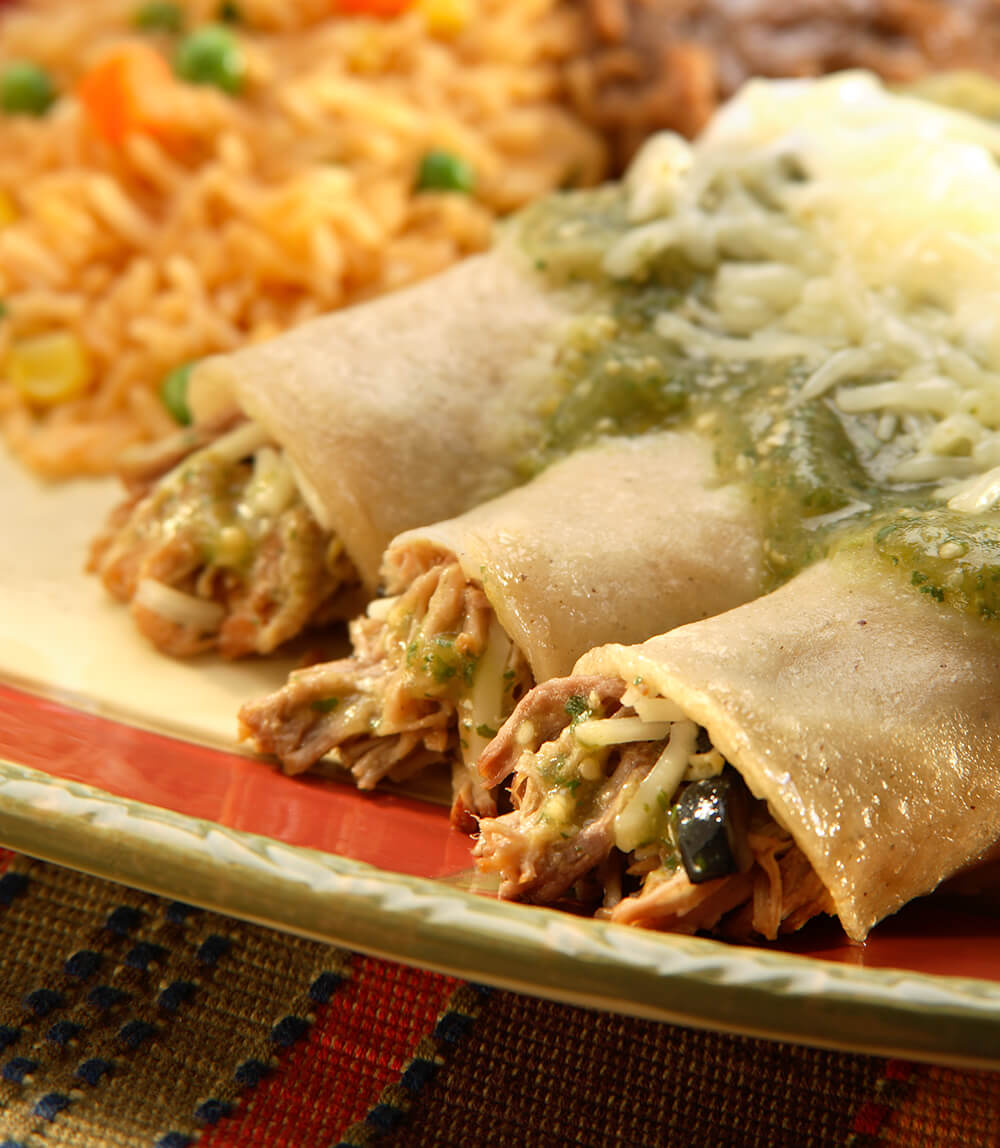 Traditional Enchiladas Suizas
