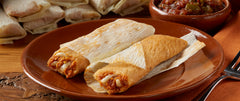 CHICKEN IN RED SAUCE WITH CHEESE TAMALITOS