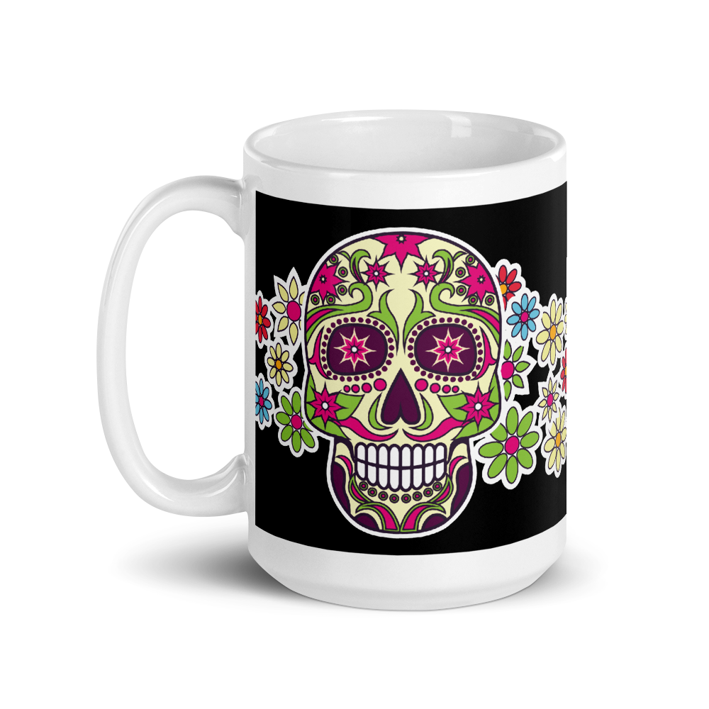 Los Angeles Day Of the Dead Black Coffee Mug