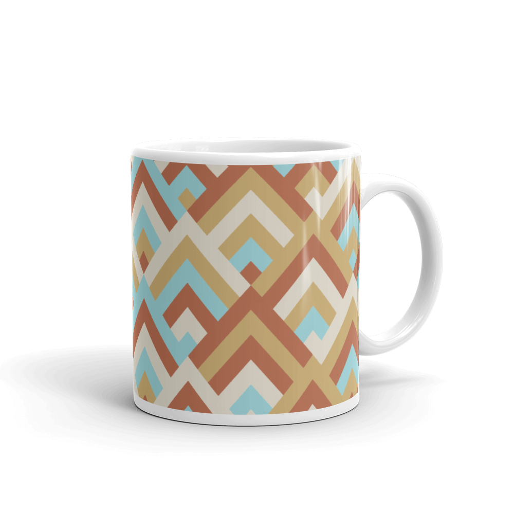 Boho Bright Geometric colors Coffee Mug