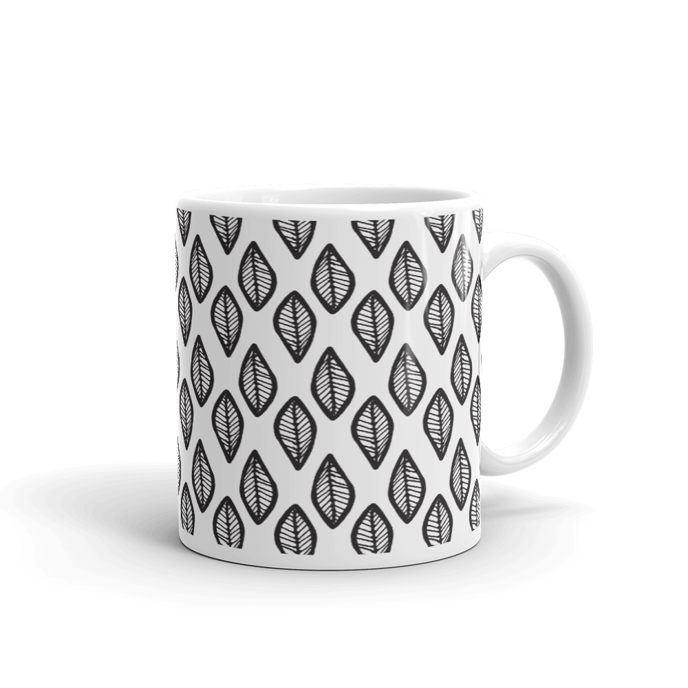 Fall Leaves Boho Pattern Coffee Mug