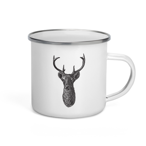 Deer Head Montana Camper 12 oz Mug