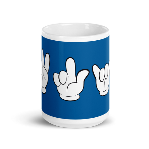 Brooklyn Mickey Sign language Coffee 15oz Mug