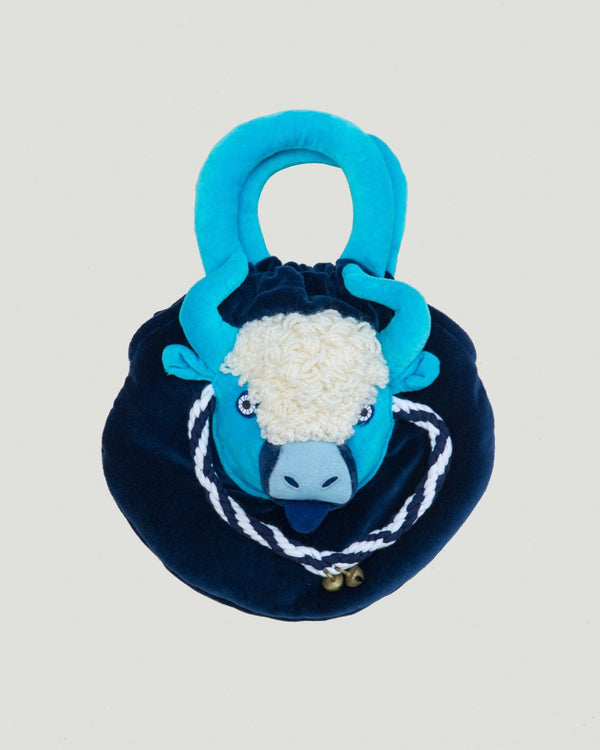Kids Yak Purse, Blue/Turquoise
