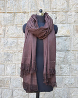 Buray Shawl, Chocolate Brown