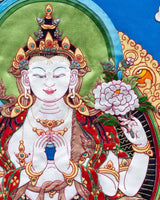 Four armed Avalokitesvara Applique Thangka