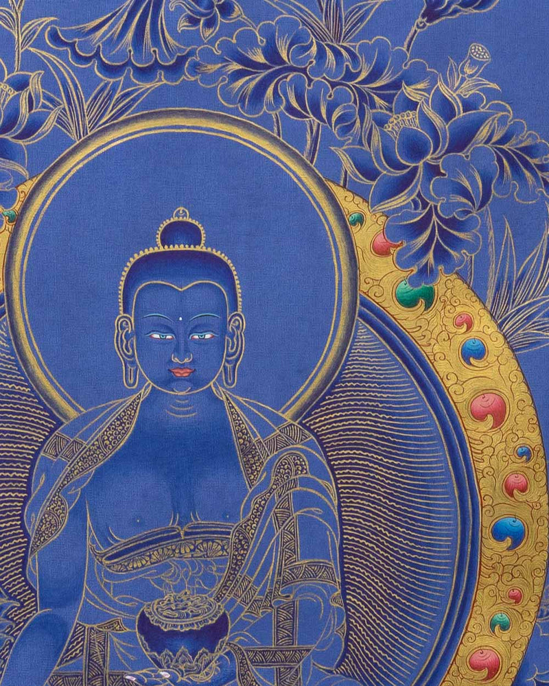 Medicine Buddha Painted Thangka