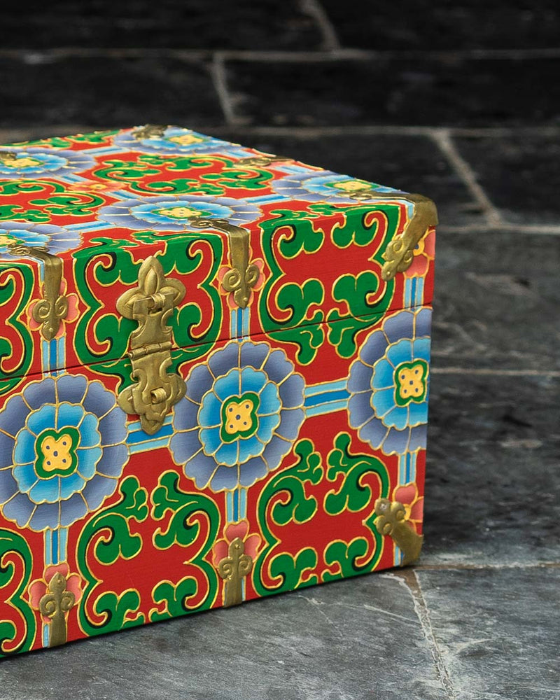 Brocade Flower Stationery Box
