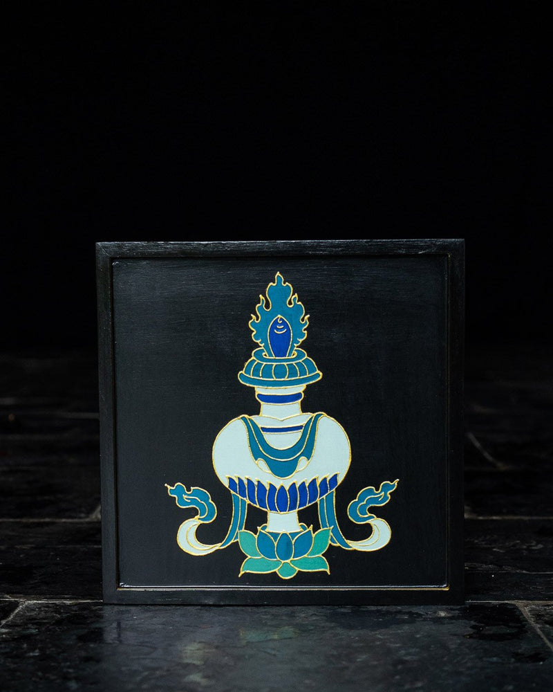 Eight Auspicious Symbols Relief Painted Wall Hanging (Set)