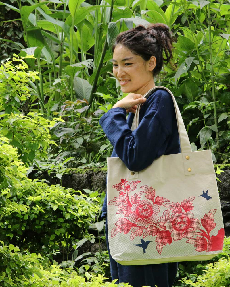 Birds & Flowers Tote
