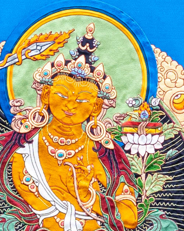 Manjushri Applique Thangka