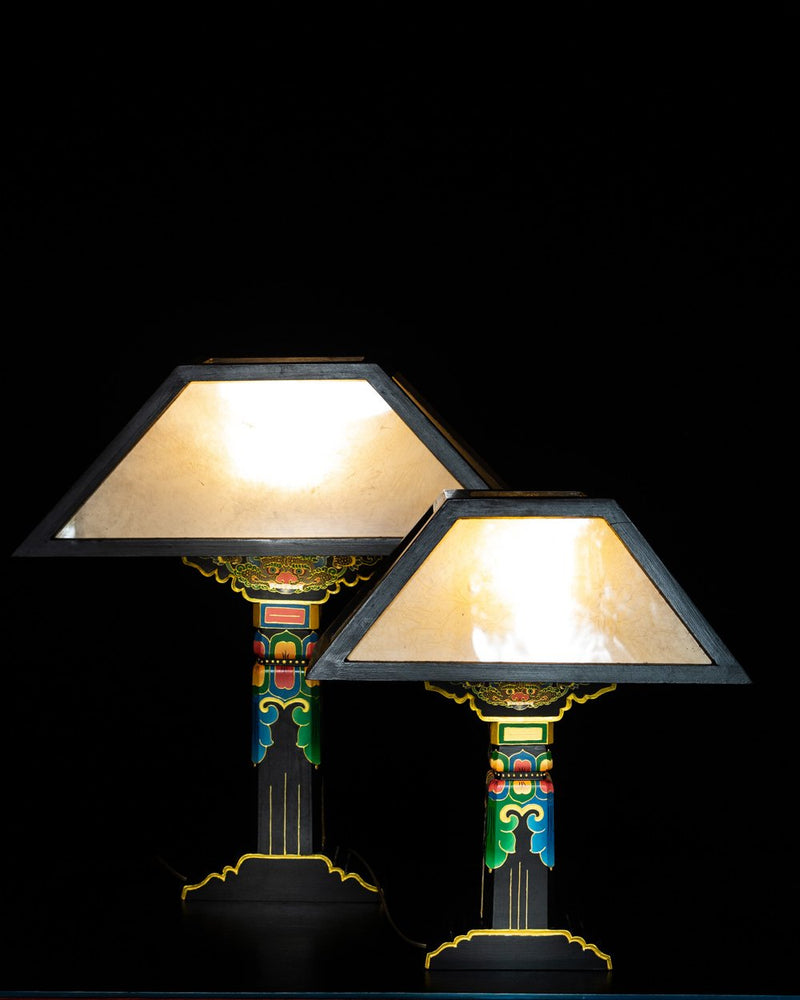 Tibetan Pillar Lamp, Black