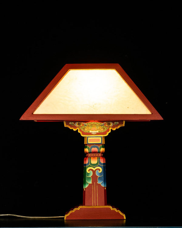 Tibetan Pillar Lamp, Red