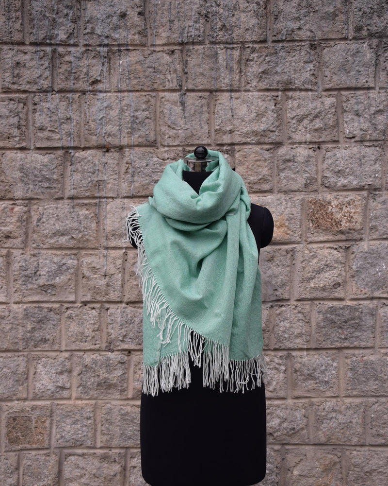 Wool Scarf Light - Mint Green