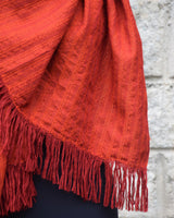 Wool Scarf - Rust