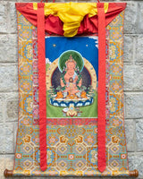 Buddha Amitayus Applique Thangka