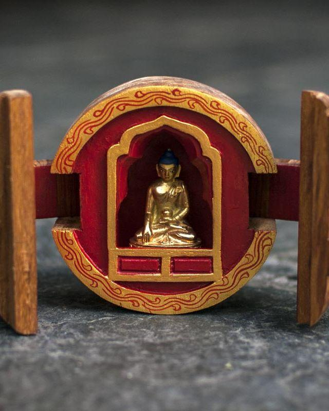 Traveler's Altar with Gilded Buddha